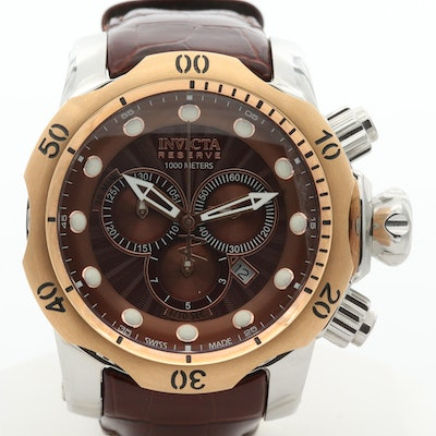 Invicta Venom Two Tone Quartz Chronograph Wristwatch