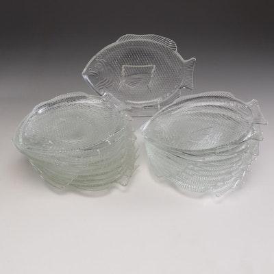 Fish Motif Serve and Tableware