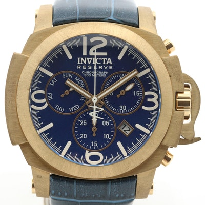 Invicta Reserve Man of War Bronze Quartz Chronograph Wristwatch