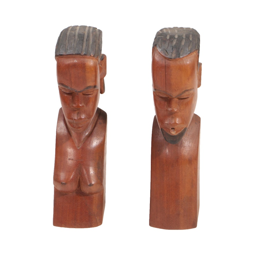 East African Style Wooden Busts