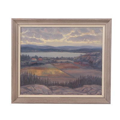 Karl Abel Landscape Oil Painting