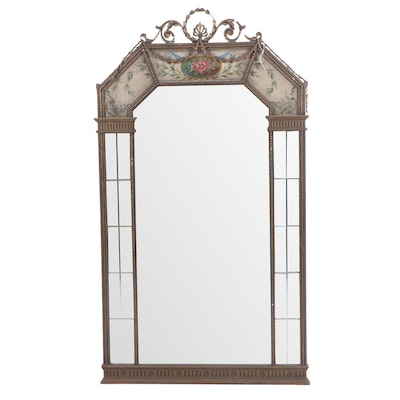 Hampton Shops Trumeau Style Hand-Painted Wooden Wall Mirror