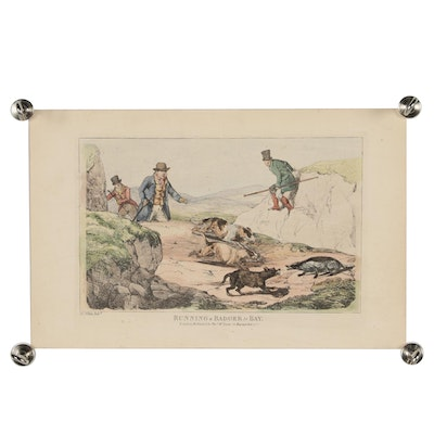 Late 19th Century Hand-Colored Engraving after Henry Thomas Alken