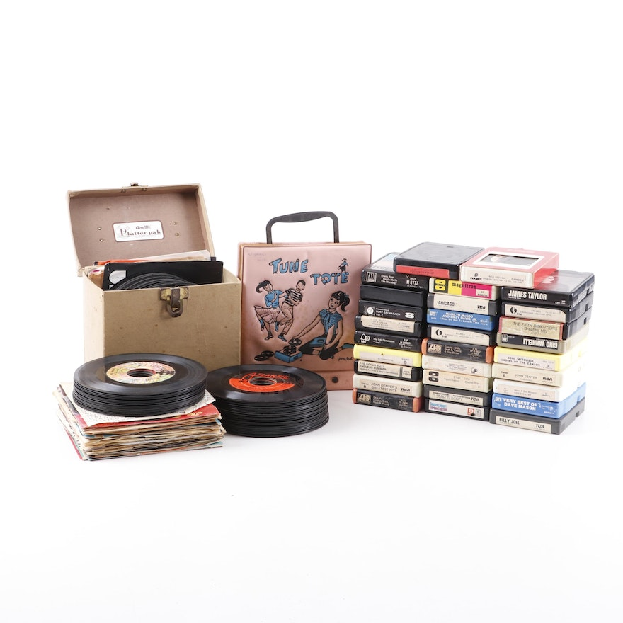 45 Records Albums and 8 Tracks, including The Beatles, Frankie Valli, and more