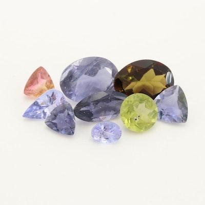 Loose 4.26 CTW Adalusite, Peridot, Bi-Color Tourmaline and Tanzanite Gemstones