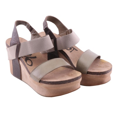 OTBT Bushnell Wedge Sandals in Coffeebean