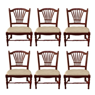 Six Hand Painted Dining Chairs