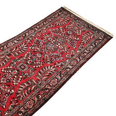 Hand-Knotted Persian Mehriban Wool Carpet Runner