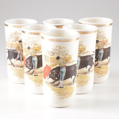 Vintage Ceramic Matador Tumblers