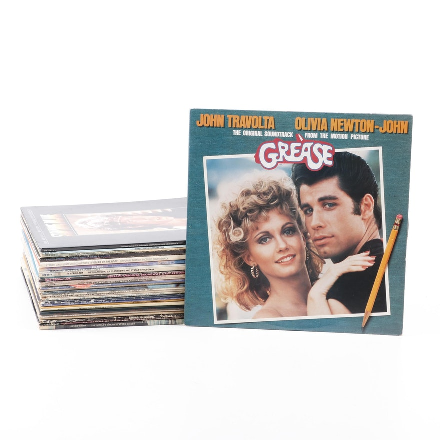 """Pop and Show Tune Record Albums, including Carly Simon and """"Grease"""""""