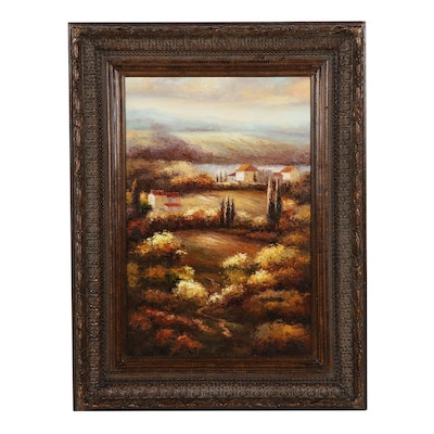 Tuscan Landscape Oil Painting