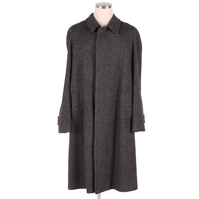 Men's Burberry Herringbone Wool Coat