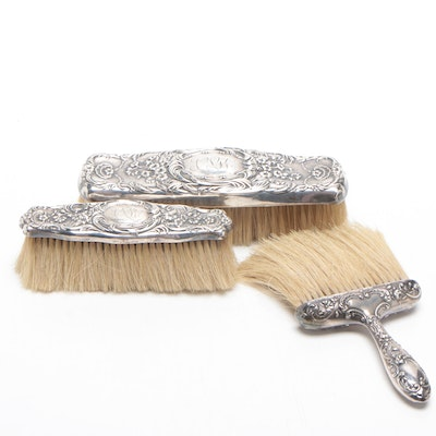 Gorham and Whiting Art Nouveau Sterling Silver Brushes