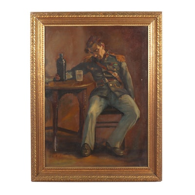 G. Hikida Oil Portrait of a Soldier