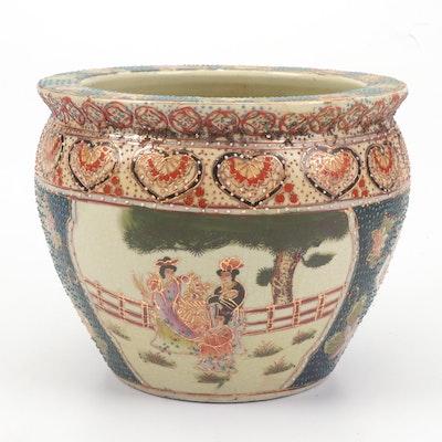 Chinese Hand-Painted Ceramic Planter