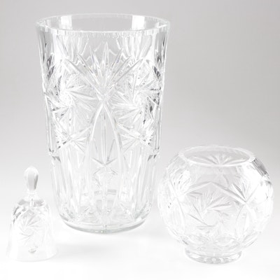 Buzz Star Motif American Brilliant Cut Glassware