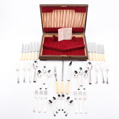 James Ryals Sheffield Silver-Plate Flatware in Wooden Box