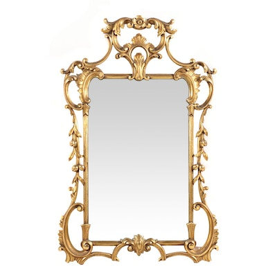 Baroque Style Giltwood Mirror, Early to Mid 20th Century