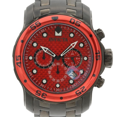 Invicta Pro Diver Stainless Steel Quartz Chronograph Wristwatch