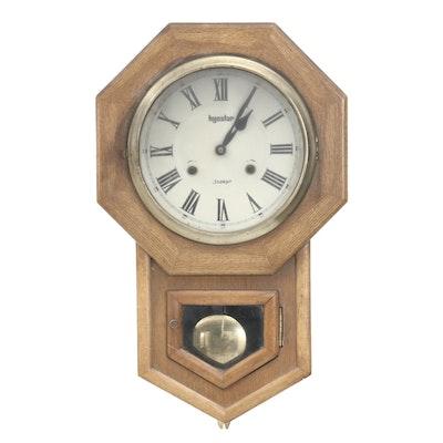 Hyostar Bleached Mahogany Veneer Thirty One Day Wall Clock, Mid-Century
