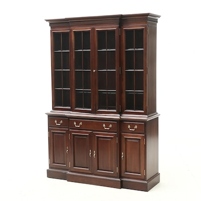 Link-Taylor Heirloom Mahogany Illuminated China Cabinet