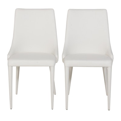 Safavieh Contemporary Faux Leather Dining Chairs, Set of Two