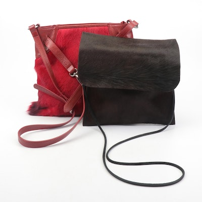 Sondra Roberts and Other Dyed Calf Hair Crossbody Bags