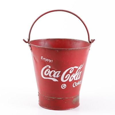 Vintage Coca-Cola Painted Metal Bucket