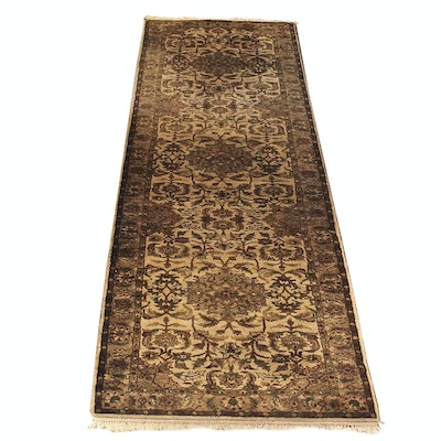 Hand-Knotted Indian Wool Carpet Runner from The Rug Gallery