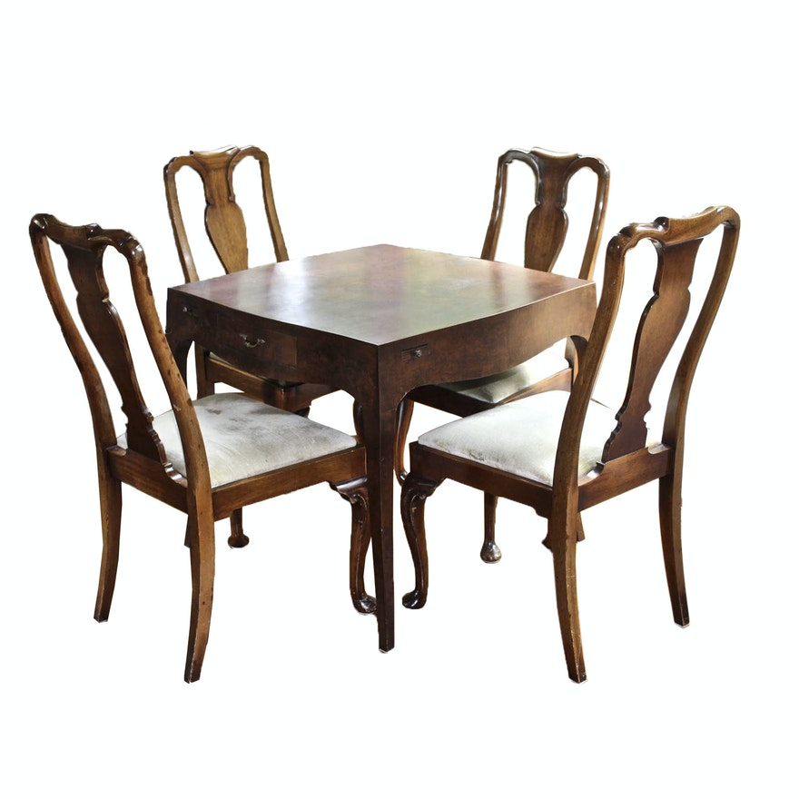 Kitchenette Queen Anne Style Dining Table and Chairs