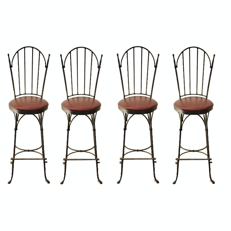 Super Four Charleston Forge Swivel Bar Stools Caraccident5 Cool Chair Designs And Ideas Caraccident5Info