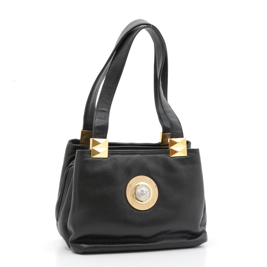 Gianni Versace Signature Leather Handbag, Vintage