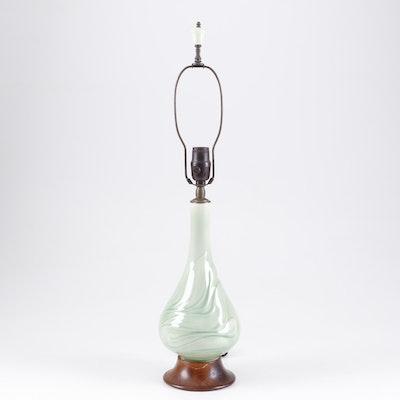 Cast Ceramic Table Lamp, Mid 20th Century