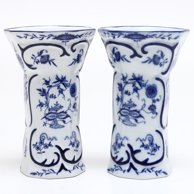 Pair of Jeanne Reed's Porcelain Vases