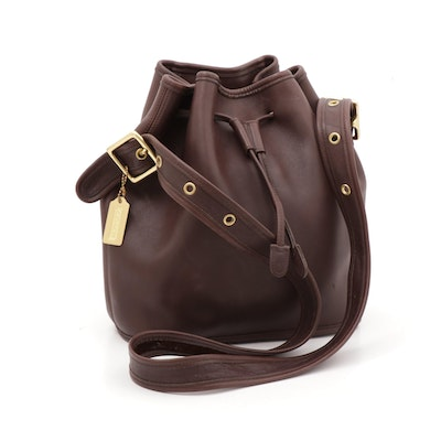 Coach Legacy Brown Leather Bucket Bag