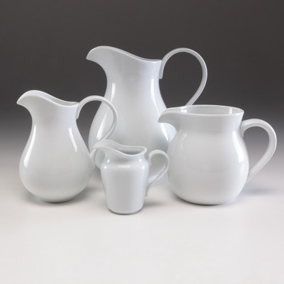 Pottery Barn White Pitcher Set