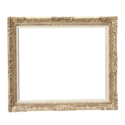 Baroque Style Gold Painted Composition Mirror, Mid to Late 20th Century