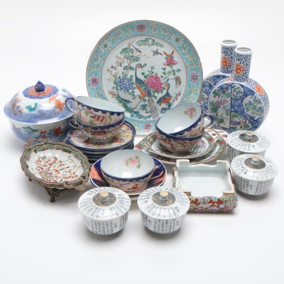 Chinese and Japanese Porcelain Decor and Serveware