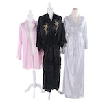 Natori and Vanity Fair Sleepwear with Chinese Dragon Embroidered Silk Robe