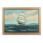 Jimenez de Rada Nautical Oil Painting