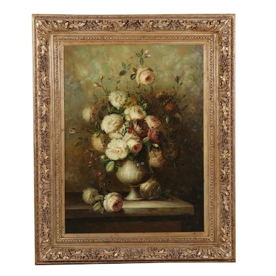 W. Shannon Floral Still Life Oil Painting