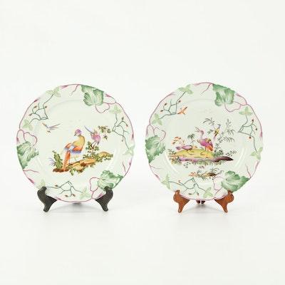 Chinese Ceramic Tropical Bird Motif Decorative Plates