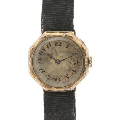 Vintage Welta 14K Yellow Gold Swiss Octagon Shaped Wristwatch, Circa 1930