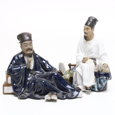 Chinese Shiwan Ceramic Figurines, Mid to Late 20th Century