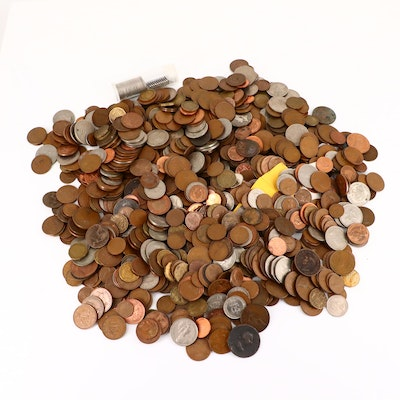 Approximately 950 Foreign Coins