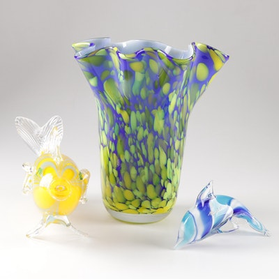 Contemporary Tropical Themed Art Glass