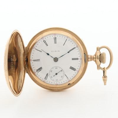 Antique Elgin Gold Filled Pocket Watch, 1909