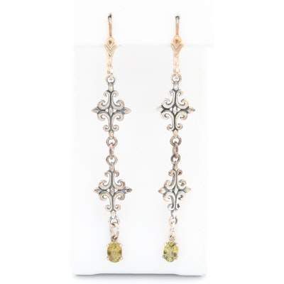 Sterling Silver Andalusite Dangle Earrings