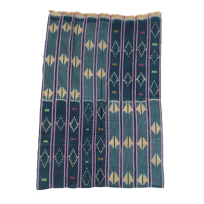 West African Handmade Ikat Textile Wrapper