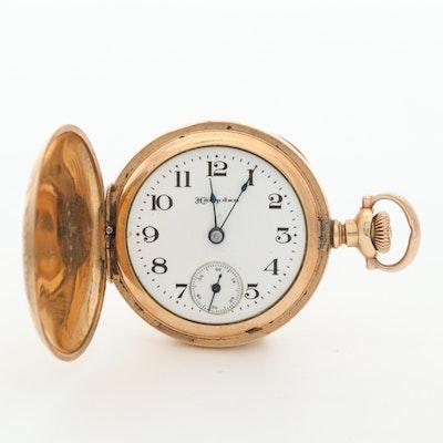 Antique Hampden Gold Filled Hunter Case Pocket Watch